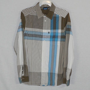 Kavu striped LS button shirt EUC S